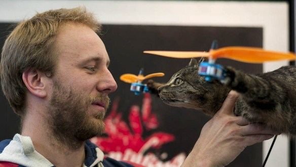 Aerial hobbyist and cat lover Bart Jansen.